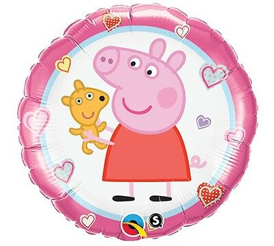 Teddy Bear PEPPA PIG Happy Birthday Party Decoration Balloon