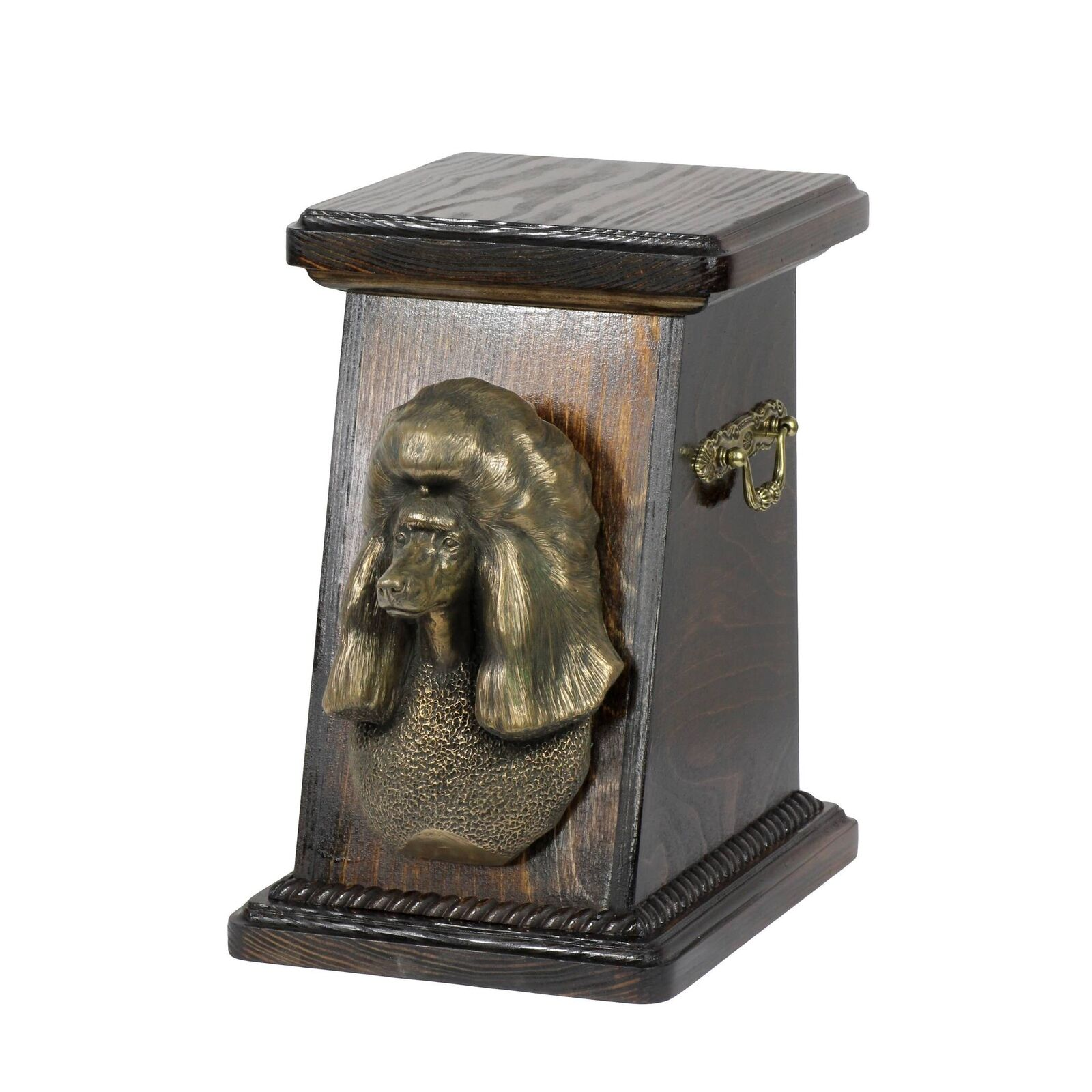 Poodle - exclusive urn for dog with statue, Art Dog type 2