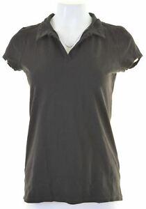 CALVIN-KLEIN-Womens-Polo-Shirt-Size-12-Medium-Black-Cotton-FM13