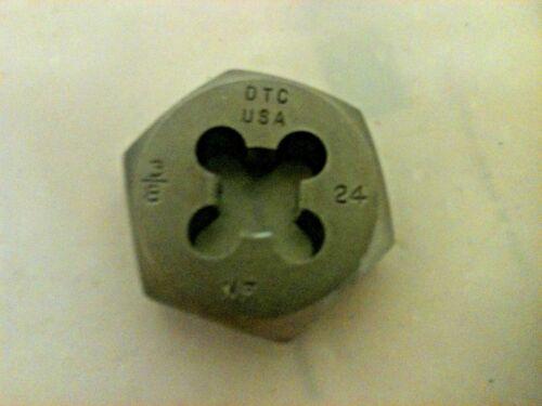 Lot Of 10  3//8-24 RH Hex threng die DTC USA NF machinist toolmaker