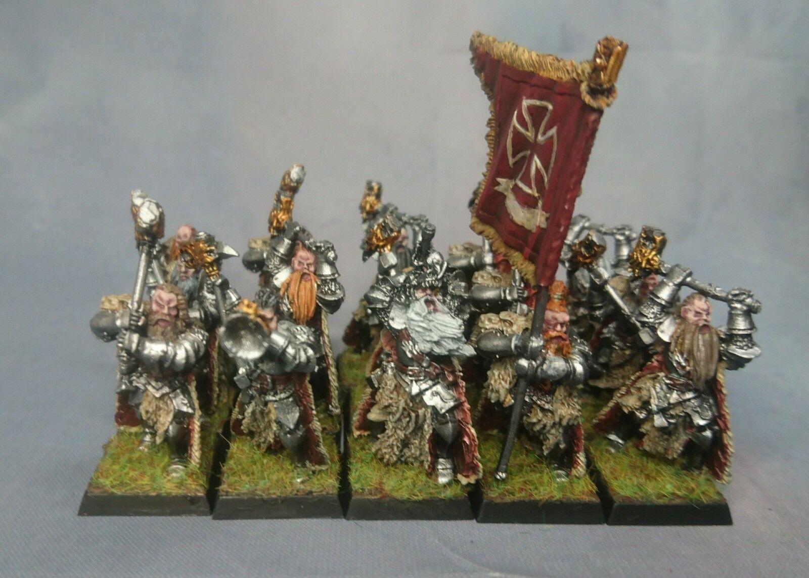 15 x WARHAMMER IMPERO Guardia teutogen tra cui COMANDO dipinto