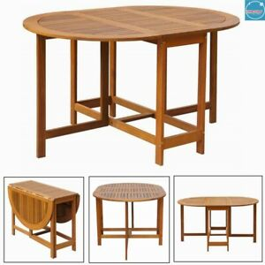 Folding Drop Leaf Dining Table Wooden