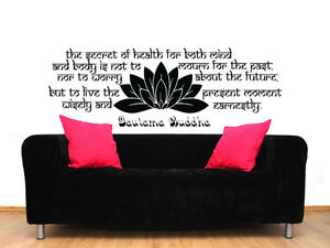 Namaste wall decal quote buddha lotus flower wall vinyl sticker yoga image is loading namaste wall decal quote buddha lotus flower wall mightylinksfo Choice Image