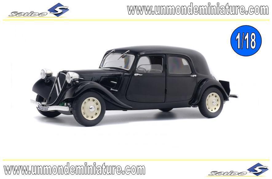 Citroën Traction 11 CV 1937 blacke SOLIDO - SO 1800903 - Echelle 1 18