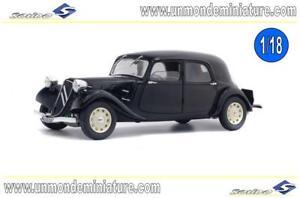 Citroen-Traction-11-CV-1937-Noire-SOLIDO-SO-1800903-Echelle-1-18