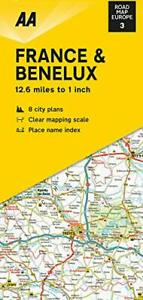 aa road map europe series Road Map France & Benelux (AA Road Map Europe 03) (AA Road Map