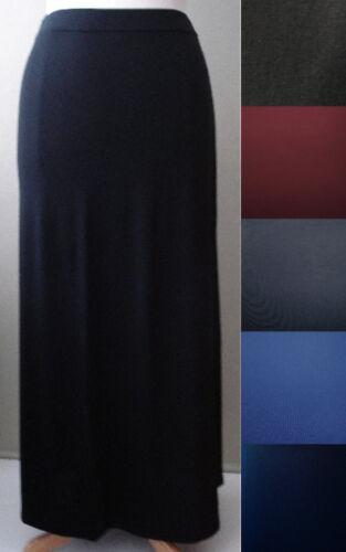 XL//1X-2X-3X-4X-5X-6X NEW Plus Size Solid Long Full Length Maxi Skirt