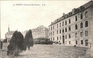 CARTOLINA-RENNES-Caserne-du-Bon-Pasteur-1905-ca