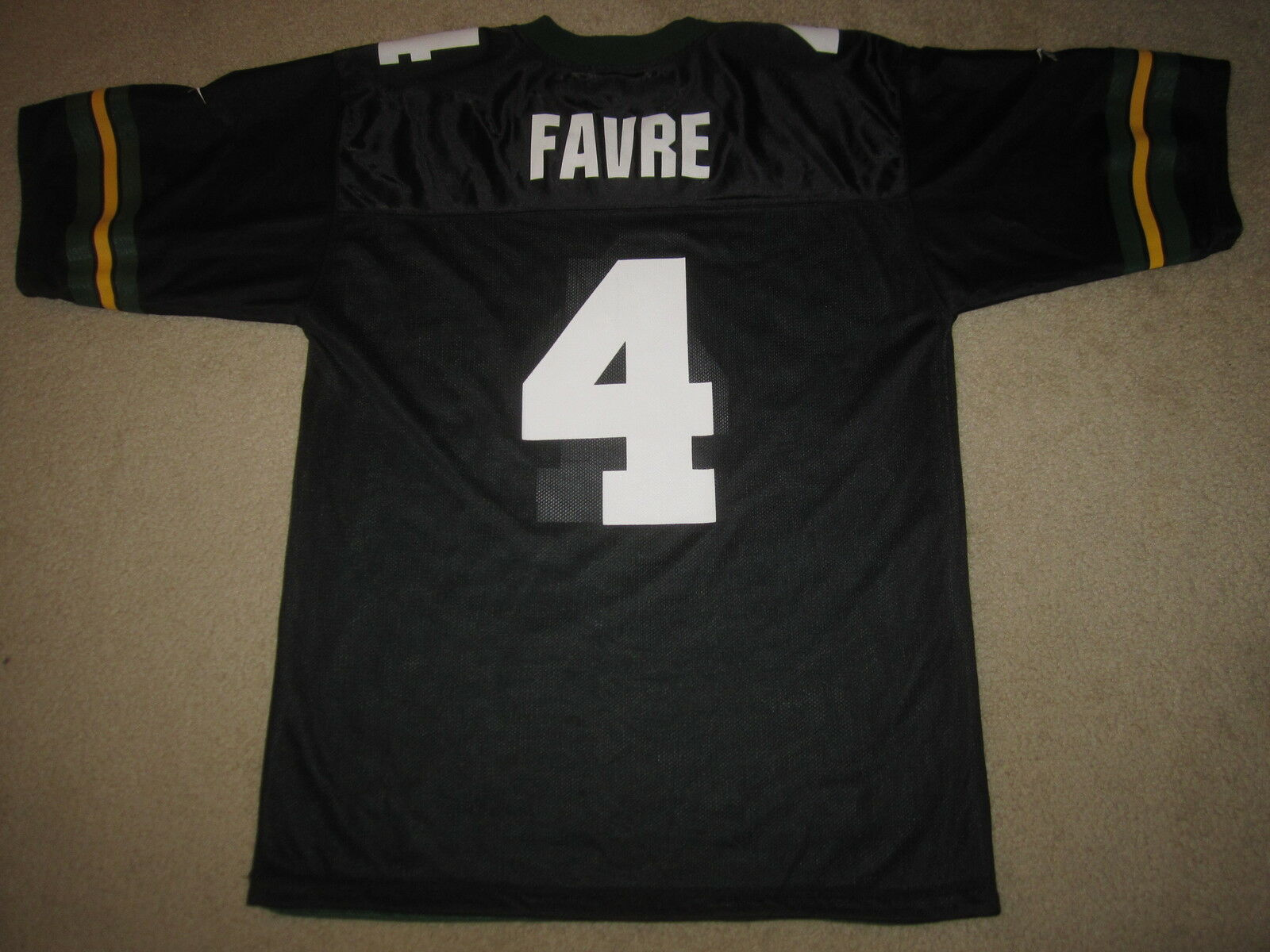 Brett Favre verde Bay Packers NFL Negro Jersey 48 Hombres
