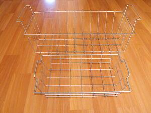 2 Old VTG Industrial Metal Wire Basket Pair Handle Storage Holder File Bin Lot