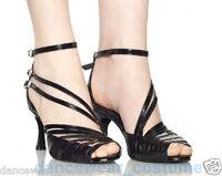 New Ladies Prom Ballroom Latin Tango Samba Salsa Dance Shoes Heels Sandals US5-9