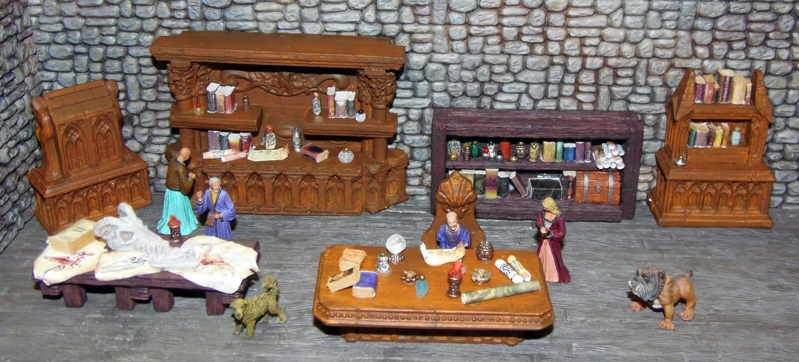 Painted Wizard Room 1 Furniture Set - Works with Dwarven Forge & DnD D&D
