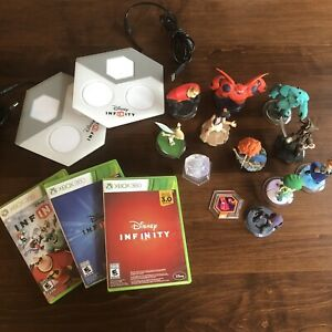 Disney-Infinity-1-0-amp-2-0-amp-3-0-For-Xbox-360-Lot-Of-figures-And-2-Portals