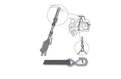 cinghie ancoraggio moto Acerbis nere tie down