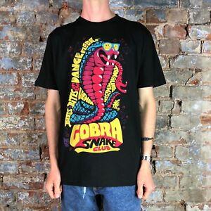 FENCHURCH-Da-Uomo-Serpente-Club-Manica-Corta-T-Shirt-in-nero-in-taglia-S-M-L