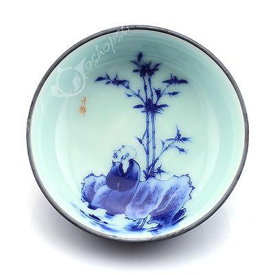 50ml Top Chinese GongFu Tea Porcelain Ceramic JingDe Bamboo paint teacup tea Cup