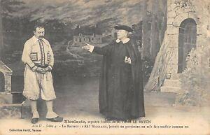 CPA 56 NICOLAZIC MYSTERE BRETON ABBE LE BAYON ACTE II