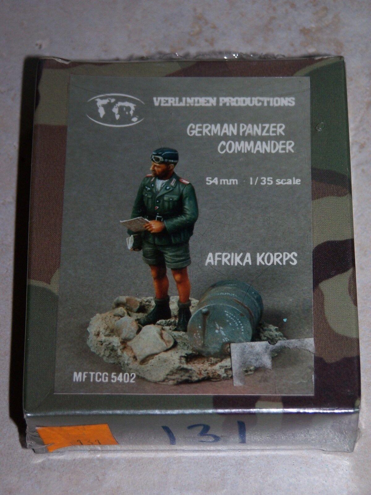 Kit Kit Kit VERLINDEN N°131 1 35ème AFRIKA KORPS GERMAN PANZER COMMANDER cc263c