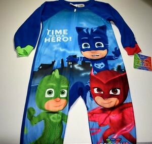 New Pj Masks pajamas with feet Toddler Boys 2t 3t 4t 5t blanket ... 8079dfc03