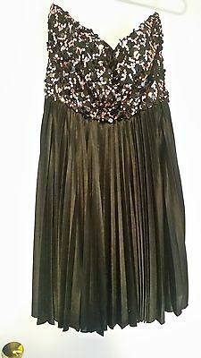 Charlotte Russe Dress In Size Large New W/out Tags Intelligent Black Strapless Sequins