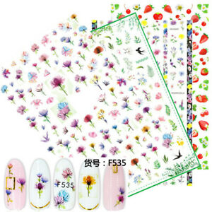 3D-Nail-Stickers-Flower-Animal-Fruit-Self-adhesive-Nail-Art-Transfer-Decals-Tips