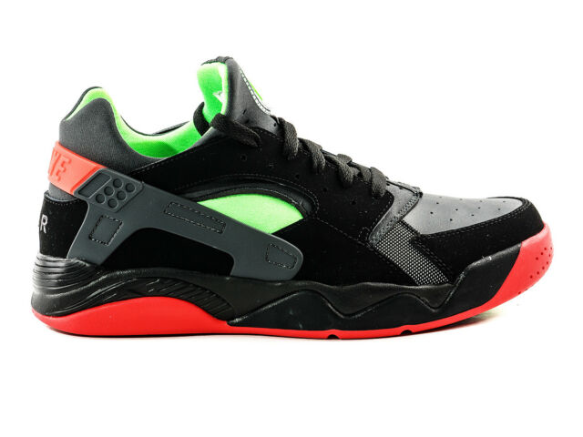 official photos 14766 190a8 Size 12 NIKE Men AIR FLIGHT HUARACHE LOW SHOES 819847 001 Black Green Red