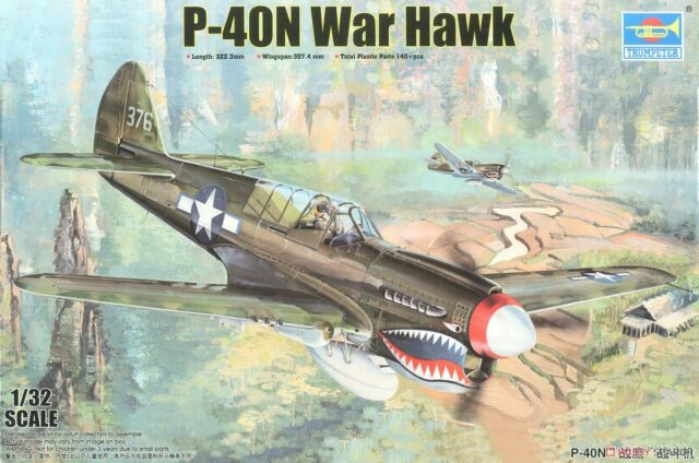 TRUMPETER P-40N WARHAWK 02212 ⭐PARTS⭐ SPRUE F-FUSELAGE+MORE 1//32