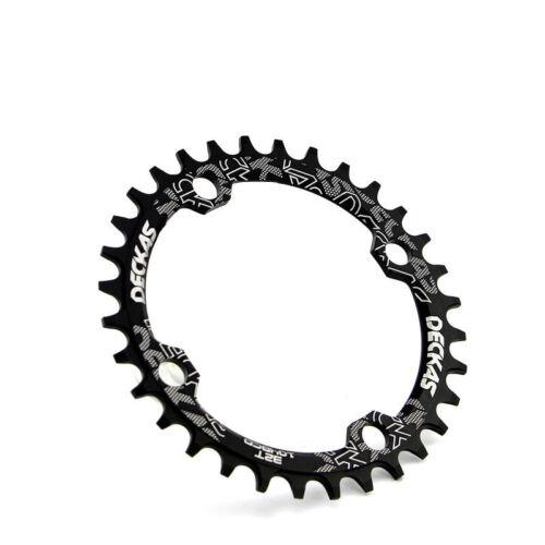 DECKAS 104bcd 32T 34T 36T 38T Bike Chainring /& Bolts Round Oval MTB Chainwheel