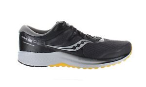 Saucony Mens Omni Iso 2 Grey/Black/Yellow Running Shoes Size 11.5 (1669159)