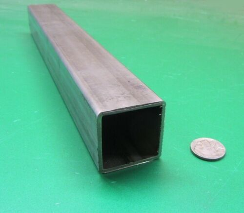 "304 Stainless Steel Square Tube  1 1//2/"" SQ x .083/"" Wall x 12 Inch Length"