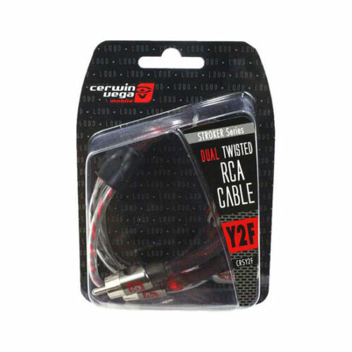 Cerwin-Vega CRSY2F Stroker Dual Twisted Car Audio RCA Cable 1 Male to 2 Female