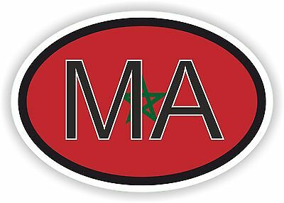 """Morocco Vehicle Country Code Oval Car Bumper Window Sticker Decal 6/""""X4/"""""""