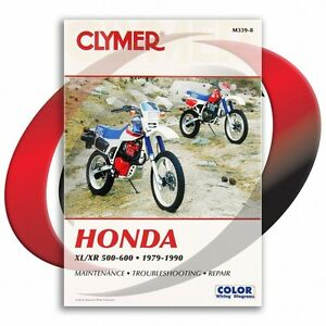 1982-Honda-XL500R-Repair-Manual-Clymer-M339-8-Service-Shop-Garage-Maintenance