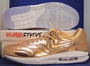 Details about MENS NIKE ID AIR MAX 1 PREMIUM LIQUID BRONZE ROSE GOLD SHOES 886992 991 SIZE 12