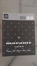 Marantz Service Manual CD-84 compact disc player cd Original Factory Repair book