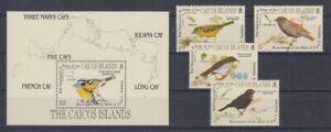Caiques-Iles-62-65-Bloc-8-Oiseaux-Oiseaux-MNH