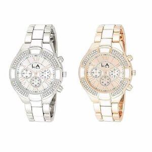 Details About New Modern Design L A Time Las Fashion Bracelet Watches 2 Colours To Choose