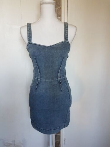8 Asos Denim Uk Chambray Fitted Dress ZXRq4wx