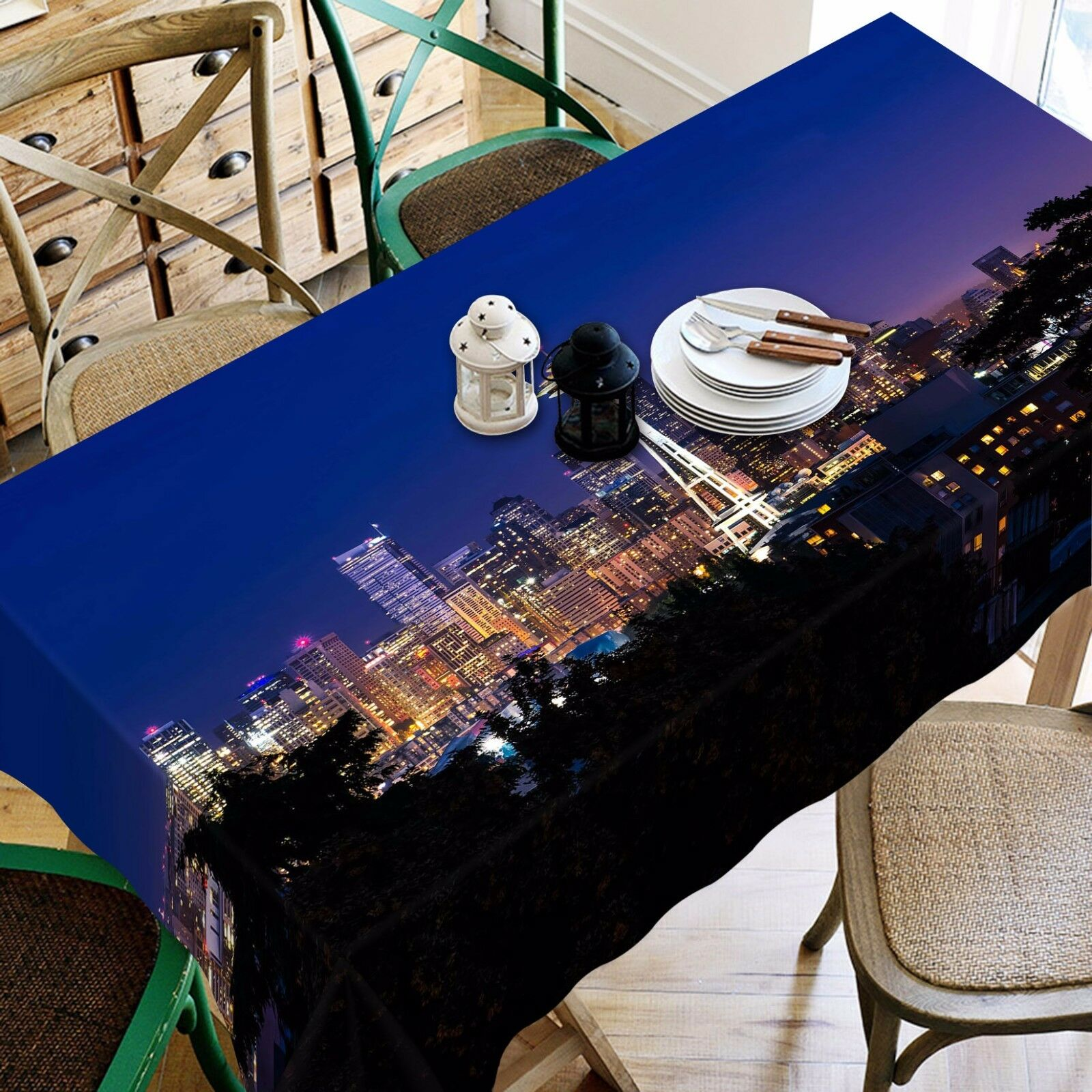 3D Night 4445 Tablecloth Table Cover Cloth Birthday Party Event AJ WALLPAPER AU