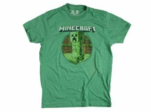 Heather Green Minecraft Retro Creeper Premium Tee