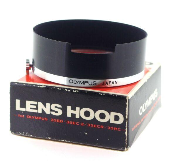 2019 DernièRe Conception Olympus Véritable Métal Lens Hood Pour 35rc, 35ed, 35sec-2, 35ecr-coffret