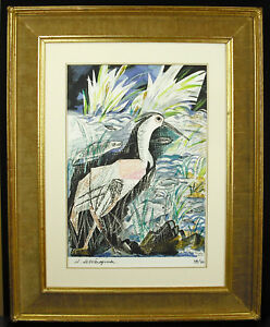 Henry-to-Wait-The-Heron-Of-Fables-Lithography-Tale-Signed-Per-039-Artist