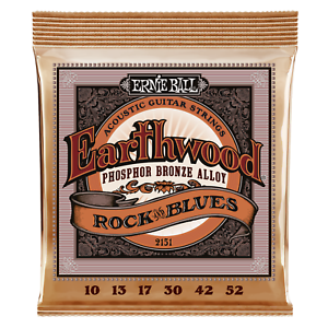 Ernie Ball Earthwood Rock /& Blues Phosphor Bronze Acoustic Guitar Strings P02151