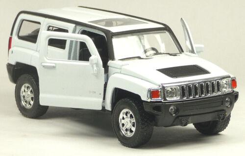 NEU: Modellauto SUV Hummer H3 weiß 1:34 Neuware von WELLY Sammlermodell Neuware