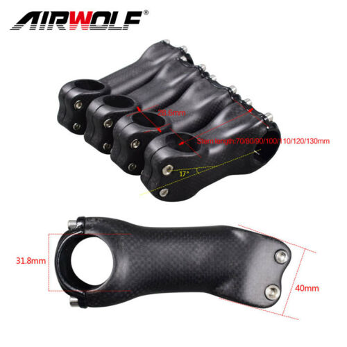 carbon mountain bike racing bicycle stem 17 degree 70//80//90//100//110//120//130mm
