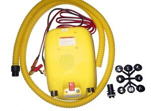 DELUXE 12 psi HIGH-PRESSURE PUMP BUILT IN BATTERY for ANY INFLATABLE BOAT