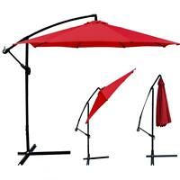 Patio Offset 10' Hanging Umbrella (Red)