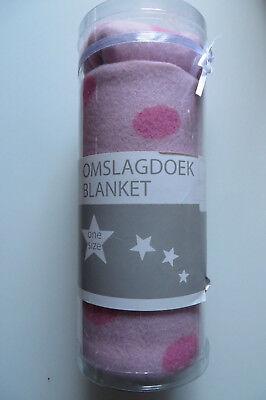 Aus Dem Ausland Importiert Baby Set MÜtze + Tuch 68 X 82 C M, Geschenkbox,decke Rosa Pink Fleece Polka Dots Warmes Lob Von Kunden Zu Gewinnen