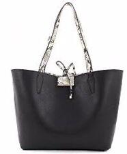 New Guess Bobbi Inside-Out black python Set PG642223 Reversible embossed Bag