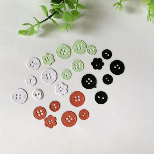 Button Design Metal Cutting Dies For DIY Scrapbooking Paper Cards FF
